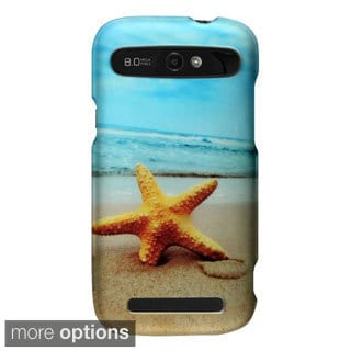 INSTEN Design Pattern Rubberized Hard Snap-On Phone Case Cover For ZTE Warp Sync N9515