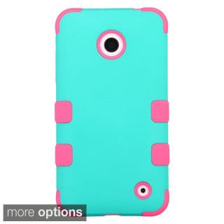 INSTEN Tuff Dual Layer Hybrid Rubberized Hard PC/ Silicone Phone Case Cover For Nokia Lumia 630/ 635