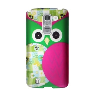 INSTEN Colorful Owl Rubberized Hard Snap-On Phone Case Cover For LG G Pro 2