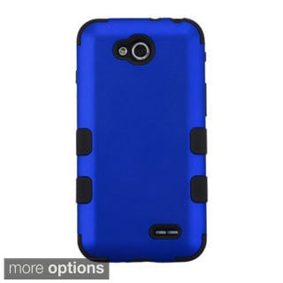 INSTEN Tuff Dual Layer Hybrid Rubberized Hard PC/ Silicone Phone Case Cover For LG Optimus L90