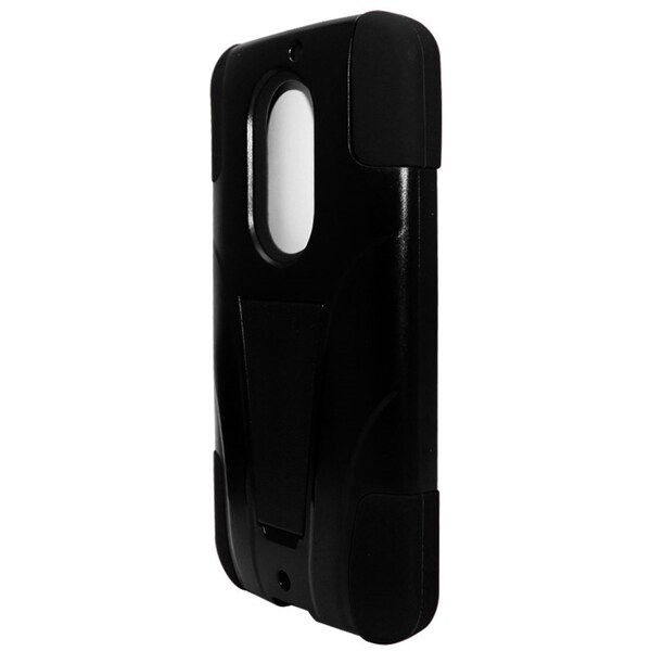 INSTEN Hybrid Rubberized Hard PC/ Silicone Phone Case Cover With Stand For Motorola Moto X 2014 Version