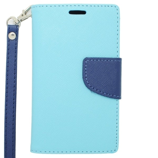 INSTEN Leather Folio Book-Style Flip Phone Case Cover With Stand For Nokia Lumia 521