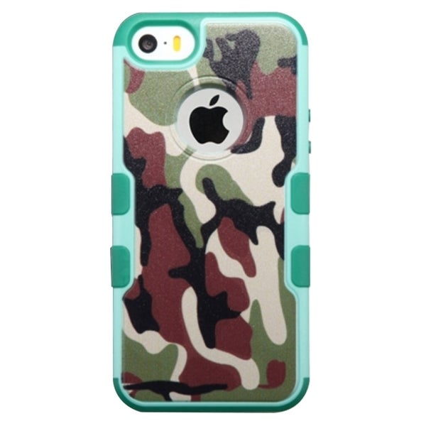 INSTEN Tuff Merge Camo Rubberized Hard Snap-On Phone Case Cover For Apple iPhone 5/ 5S