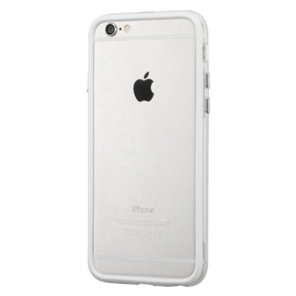 INSTEN Clear/ White TPU Rubber Candy Skin Bumper Frame Phone Case Cover For Apple iPhone 6 4.7-inch