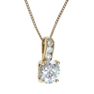 Michael Valitutti 10k Yellow Gold and Cubic Zirconia Necklace