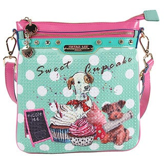Nicole Lee Cupcake Dog Print Cross Body Bag