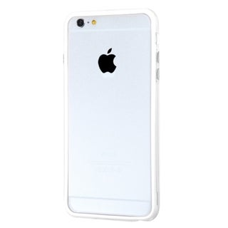 INSTEN Clear/ White TPU Rubber Candy Skin Bumper Phone Case Cover For Apple iPhone 6 Plus 5.5-inch