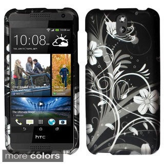 INSTEN Design Pattern Rubberized Matte Hard Snap-On Phone Case Cover For HTC Desire 610