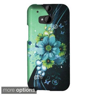 INSTEN Sublime Flower Rubberized Hard Snap-On Phone Case Cover For HTC One 2/ M8