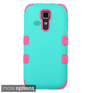 INSTEN Tuff Dual Layer Hybrid Rubberized Hard PC/ Silicone Phone Case Cover For Kyocera Hydro Icon 6730/ Hydro Life 6530