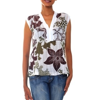 Cotton 'Forest Charm' Top (Indonesia)