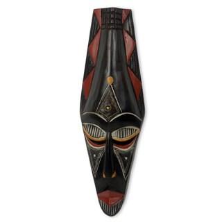 Hand-crafted Sese Wood 'Adanaya' African Mask (Ghana)