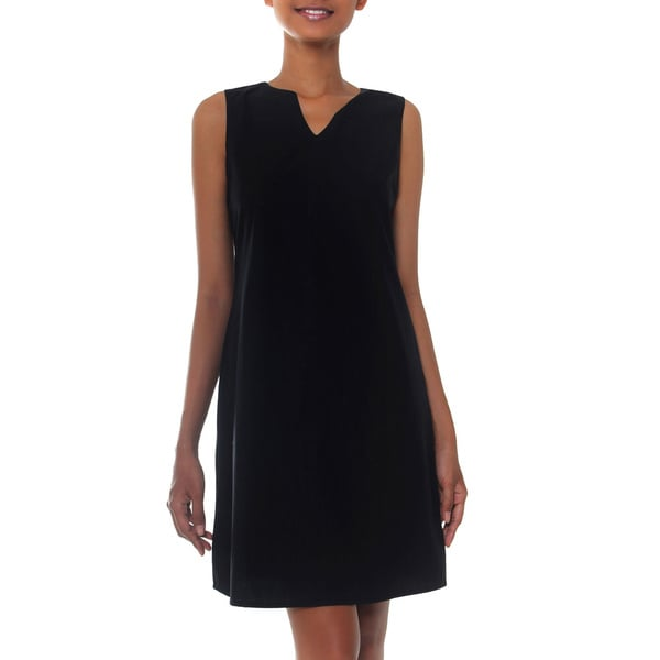 Black Cotton 'Lily In Black' Shift Dress (Indonesia)