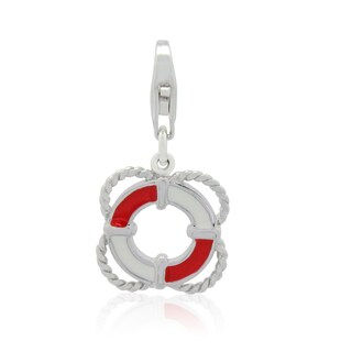 Gioelli Sterling Silver Enameled Life Preserver Charm