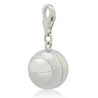 Gioelli Sterling Silver Basketball Charm