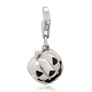Gioelli Sterling Silver Pumpkin Face Charm