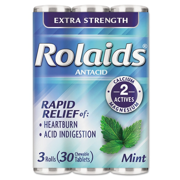 Rolaids Extra Strength Tablets Heartburn Mint Flavor