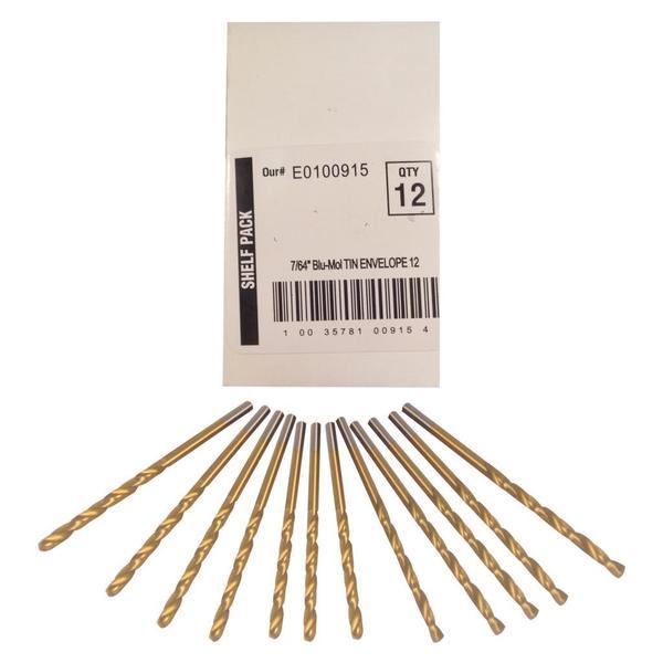 Disston Tool BLU-MOL 7/64 inch Titanium Drill Bits (Pack of 12)