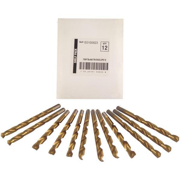 Disston Tool BLU-MOL 15/64 inch Titanium Drill Bits (Pack of 12)