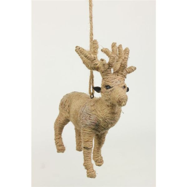 Sage & Co Jute Reindeer Orn