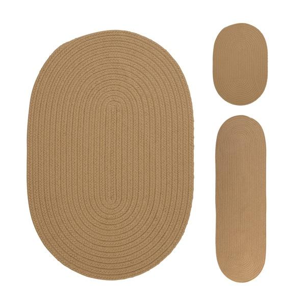 Reversible Solid 3-piece Rug Set