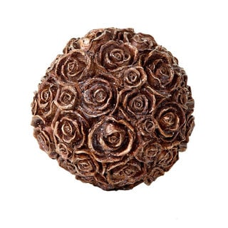 Sage & Co 6.5-inch Resin Glittered Rose Orb
