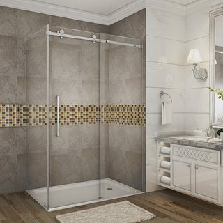 Aston 48 x 35-inch Sliding Frameless Shower Enclosure