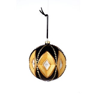 Sage & Co 4.25-inch Glass Deco Pattern Ball Christmas Ornament (Pack of 6)