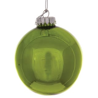 Sage & Co 3.2-inch Green Glass Christmas Ornament (Pack of 16)