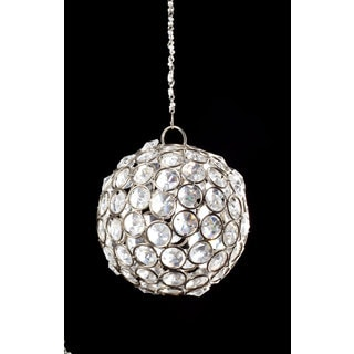 Sage & Co 4-inch Crystal Ball Ornament (Pack of 4)