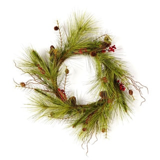Sage & Co 24-inch Mountain Pine Christmas Wreath (Pack of 2)