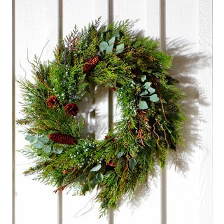 Sage & Co 30-inch Cedar Juniper Christmas Wreath