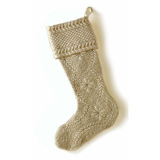 Sage & Co 22-inch Quilted Christmas Stocking