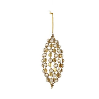 10-inch Pearl Drop Christmas Ornament (Pack of 2)