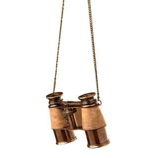 Sage & Co 4-inch Brass Binocular Ornament
