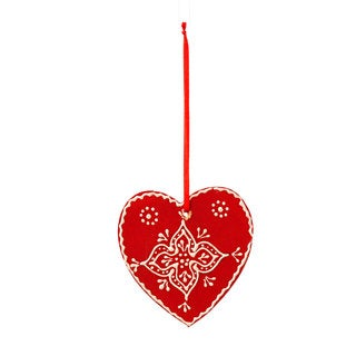 Sage & Co 3-inch Wood Toole Paint Heart Christmas Ornament (Pack of 12)