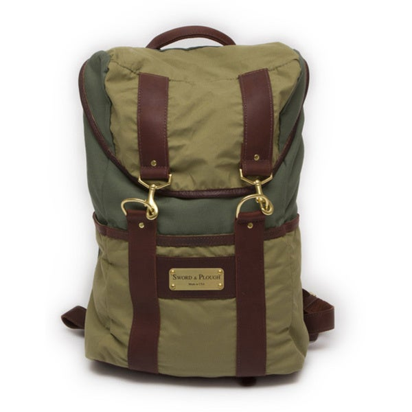 Sword & Plough Signature Two-tone Olive and Green Backpack