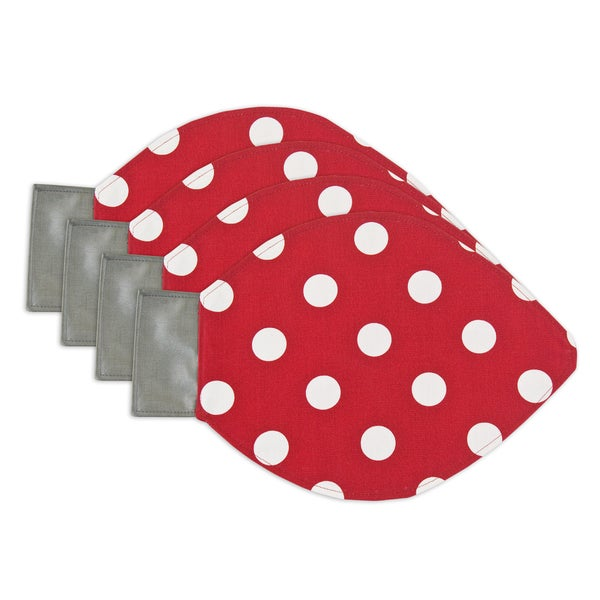 Red Polka Dot Lightbulb Placemats (Set of 4)