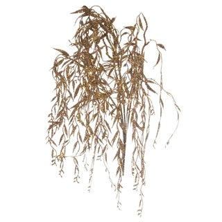 Sage & Co 24-inch Bronze Glittered Willow Bush (Pack of 12)