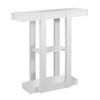 White 32-inch Hall Console Accent Table