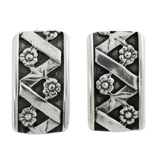 Handcrafted Silver 'Blossoming Beauty' Earrings (Mexico)