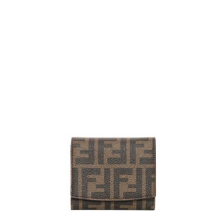 Fendi Zucca and Fuchsia Logo Billfold Wallet