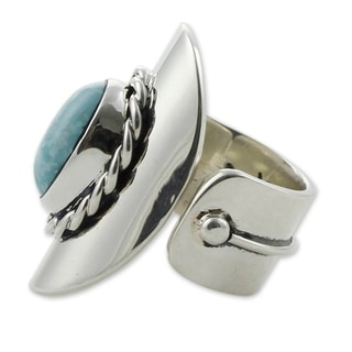 Sterling Silver 'Wisdom Of The Sky' Turquoise Wrap Ring (Mexico)