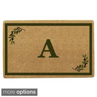 Heavy Duty Monogrammed Coir Decorative Doormat