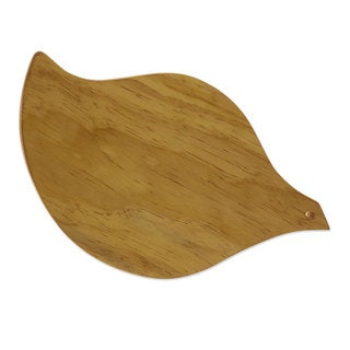 Handcrafted Pinewood 'Leaf of Life' Cutting Board (Guatemala)