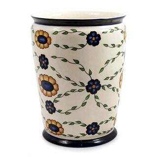 Handcrafted Ceramic 'Margarita' Vase (Guatemala)