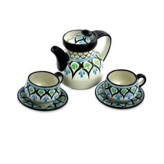 Set of 2 Handcrafted Ceramic 'Owl' Tea Set (Guatemala)