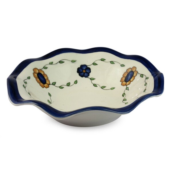 Handcrafted Ceramic 'Margarita' Fruit Bowl (Guatemala) 14406643