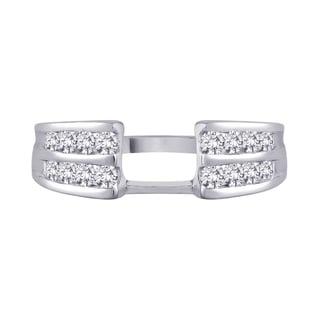 14k White Gold 2/5ct TDW Diamond Wrap Enhancer Ring (G-H, I1)