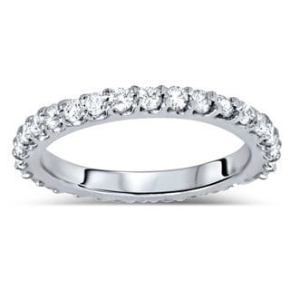 Bliss 14k White Gold 7/8ct TDW Diamond Eternity Wedding Band (G-H, I1-I2)